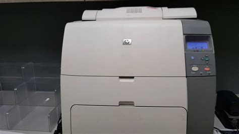 HP Color LaserJet 4700 - How to print a configuration page