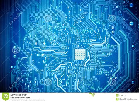 Blue Circuit Board Royalty Free Stock Photo - Image: 23287115
