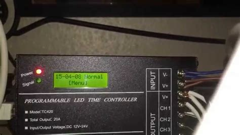 TC420 Programmable LED Time Controller - YouTube
